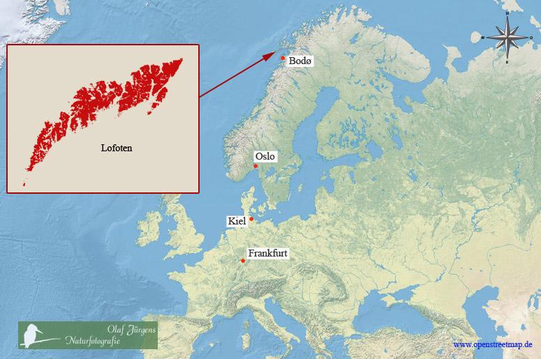 lofoten karte Naturfotografie Olaf Jürgens   Lofoten lofoten karte